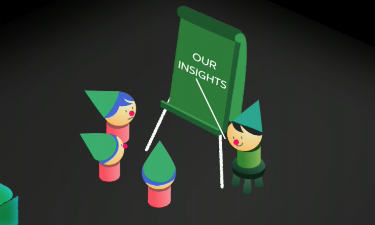 Content Marketing - meeting at a flipchart (Our Insights)