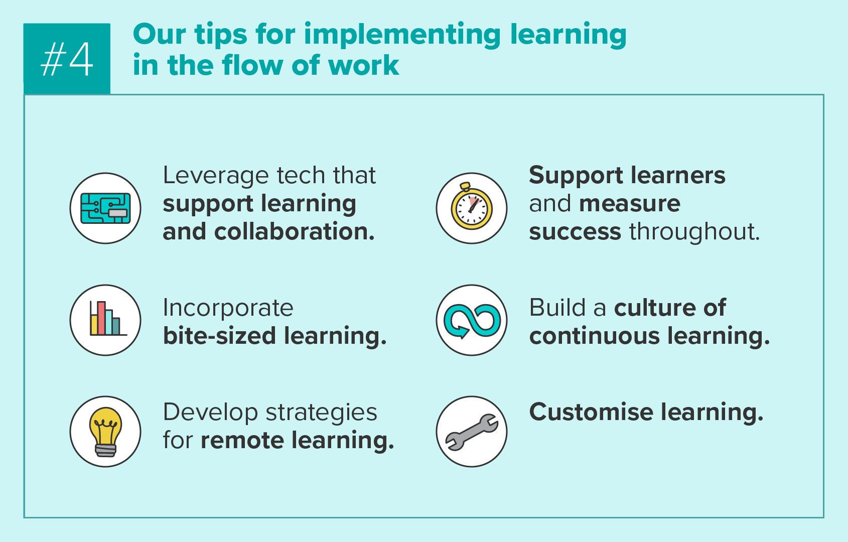Our tips for implementing learning in the flow of work